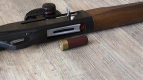 Wapens en munitie voor de jacht royalty-vrije stock afbeelding
