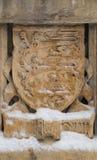 Wapenschild in de dwaasheid bij het MacKenzie King-landgoed, Gatineau royalty-vrije stock afbeelding