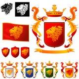 Wapenschild - het Hoofd van Leeuwen royalty-vrije illustratie