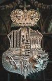 Wapenschild met natuurlijke menselijke beenderen wordt gemaakt dat Hora van Kutna Czehrepubliek Royalty-vrije Stock Afbeeldingen