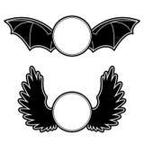 Wapenschild met vleugels Royalty-vrije Stock Afbeelding