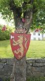 Wapenschild van Noorwegen royalty-vrije stock foto's