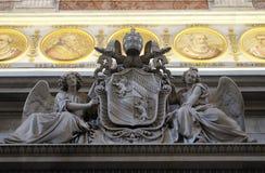 Wapenschild van Paus Pius IX Stock Afbeeldingen