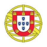 Wapenschild van Portugal, vectorillustratie Royalty-vrije Stock Fotografie