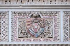 Wapenschild van prominente families, Florence Cathedral stock afbeeldingen