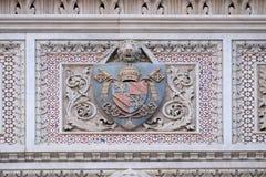 Wapenschild van prominente families, Florence Cathedral royalty-vrije stock fotografie