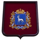 Wapenschild van Samara Region van de Russische Federatie Royalty-vrije Stock Foto