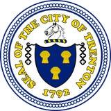 Wapenschild van Trenton in Californië, Verenigde Staten royalty-vrije illustratie
