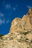 Wapień góra Calpe Fotografia Royalty Free