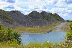 Wapień górnicza kariera w północy Estonia Obraz Stock