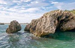 Wapień jama: Zachodniej Australii wybrzeże Fotografia Royalty Free