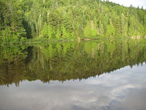Wapizagonke jeziora odbicie Fotografia Royalty Free