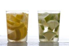 Wapna i cytryny napój Obraz Stock