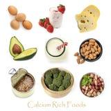 Wapni Bogaci Foods Odizolowywający na bielu fotografia royalty free