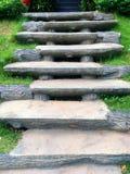 Wapni schodki, kamieni kroki w ogródzie obrazy stock