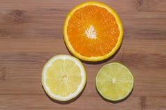 Wapno, cytryna i pomarańcze, Obraz Stock