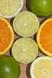 Wapno, cytryny i pomarańcze, Zdjęcia Stock