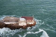 Wapno punktu latarnia morska - mgła sygnał Obrazy Royalty Free