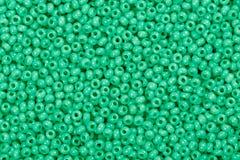 Wapno zieleni ziarna koraliki Zdjęcia Stock