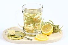Wapno ziołowa herbata Zdjęcie Royalty Free