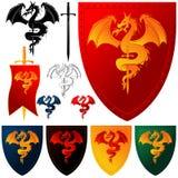 Wappen 102 - Drache Lizenzfreie Stockfotos