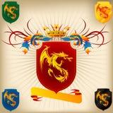 Wappen 26 - Drache Lizenzfreie Stockbilder