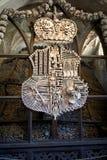 Wappen der Knochen Stockfoto