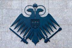 Wappen der Stadt von Cologne schnitt im Metall heraus Lizenzfreies Stockbild