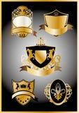Wappen des Goldes Lizenzfreie Stockfotografie