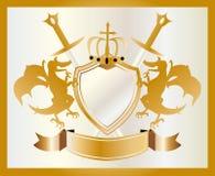 Wappen Gold Stockfoto
