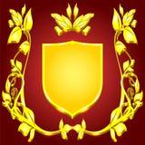 Wappen Goldmonogramm Lizenzfreie Stockbilder