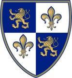 Wappen, Löwe und Lillie Lizenzfreie Stockbilder