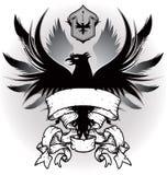 Wappen mit Adler stock abbildung