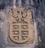 Wappen mit einem Adler Lizenzfreies Stockfoto