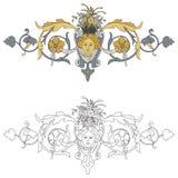 Wappen mit Engel-BIS Stockfotografie