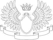 Wappen mit Flügeln Stockfotos