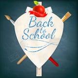 Wappen mit Schulbedarf ENV 10 Stockfotografie
