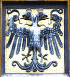 Wappen mit zwei-köpfigem Adler Lizenzfreies Stockbild