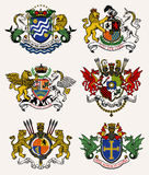 Wappen Ritter Abbildung Lizenzfreies Stockbild