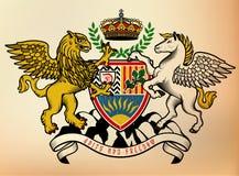 Wappen Ritter Auch im corel abgehobenen Betrag Lizenzfreies Stockfoto