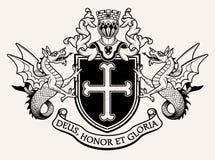 Wappen Ritter Auch im corel abgehobenen Betrag Lizenzfreie Stockbilder