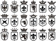 Wappen Set Lizenzfreie Stockbilder