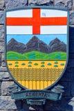 Wappen von Alberta Stockfotos