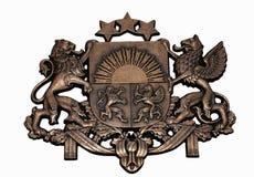 Wappen von Lettland Stockbild