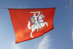 Wappen von Litauen gegen den Himmel Stockfotografie