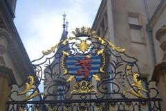 Wappen von Luxemburg Stockbild