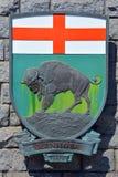 Wappen von Manitoba Stockfoto