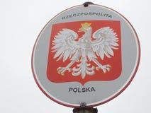 Wappen von Polen lizenzfreies stockfoto