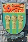 Wappen von Saskatchewan Stockfotos