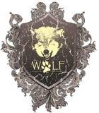 Wappen Wolf lizenzfreie stockfotografie